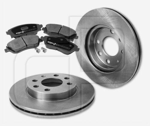 4 plaquettes de freins Opel Corsa C Avec ABS Devant 240 mm ventilée naturellement 2 Disques de frein