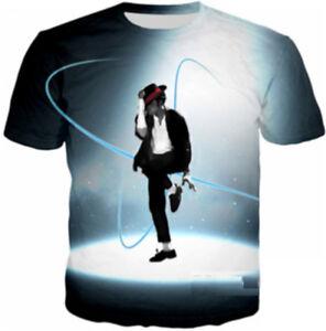 Details about Fashion Women Men Michael Jackson Moonwalk Dance 3D Print  Casual T-Shirt Tee T62 5d0a1508b543