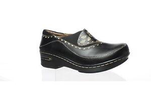 L-039-Artiste-by-Spring-Step-Womens-Burbank-Black-Heeled-Clogs-EUR-39-1549387