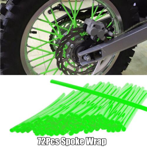 Motorcycle Hand Grip Pillow Top Grips 72Pcs Spoke Wrap Yamaha Honda Dirt Bike