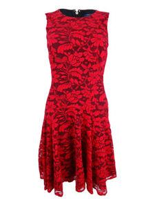 Tommy-Hilfiger-Women-039-s-Drop-Waist-Lace-A-Line-Dress