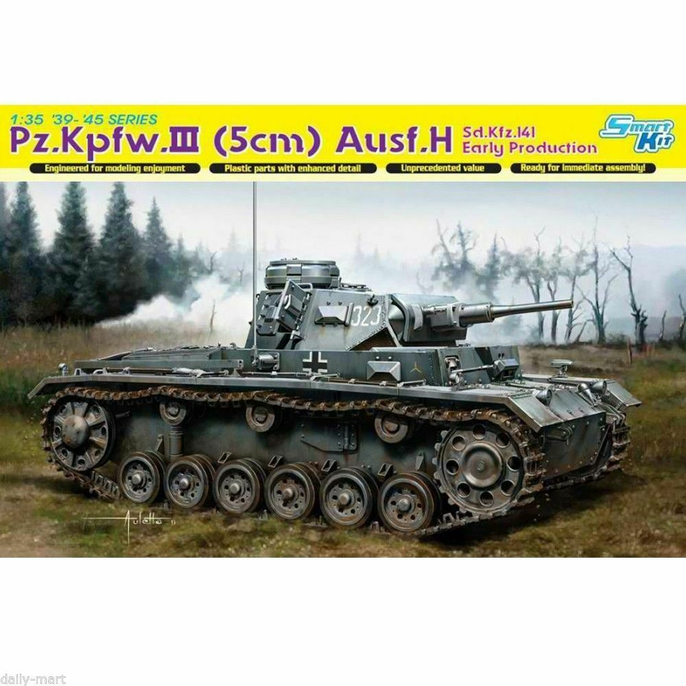DRAGON PZ.KPFW.III (5CM) AUSF.H NEW IN FACTORY SEALED BOX