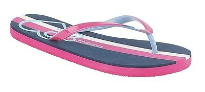 Señoras Mujeres Azul Marino Blanco Rosa Fucsia Informales Playa de Vacaciones Sandalias Flip Flop Zapatos