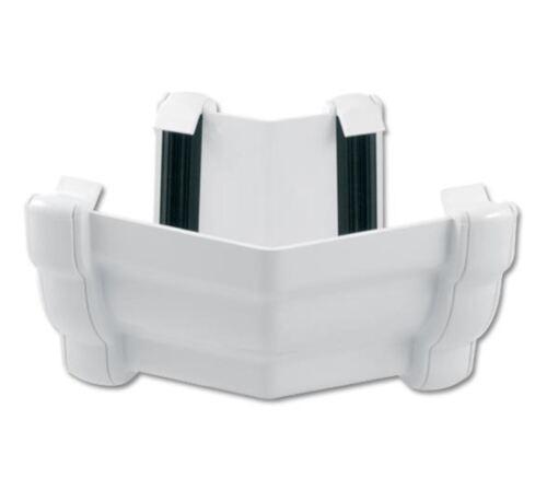 RAN4 White Floplast Niagara Ogee Gutter External 135 Degree Angle