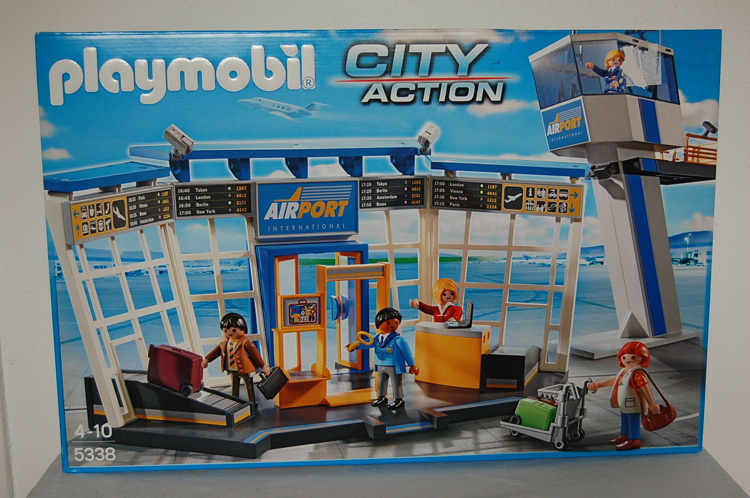 PLAYMOBIL 5338 City-Flughafen mit Tower Neu OVP