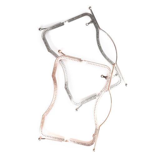 1X 27cm Metal Frame Clasp DIY Handbag Coin Purse Lock Arch Frame Accessories CL