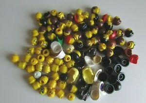 10-LEGO-tetes-avec-chapeau-ou-cheveux-pour-minifigures-lego-Hommes-Male-Femelle