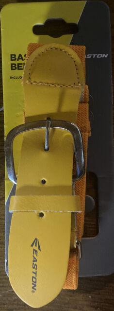 Easton Adjustable Stretchable Softball Baseball Belt Gold Ships for sale online