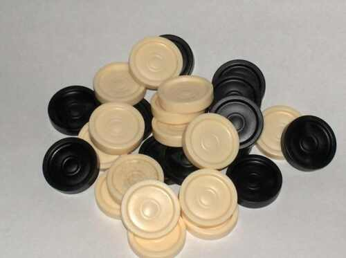 Draughts Men pack of 24 New Pieces Spare // Replacemnt