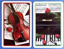 PAIR SWAP PLAYING CARDS. STEINWAY PIANO & VIOLIN WITH MOZART MUSIC. IVORY TOWER