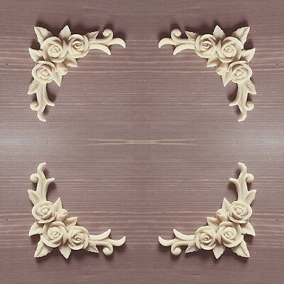 4x Shabby Chic Corner Resin furniture Rose Swag Decal not wood moulding mould   eBay
