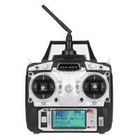 Flysky Fs-t6 Transmitter 2.4g 6ch Mode 2 W/ Receiver R6-b Fr Rc Plane Car 1l4a