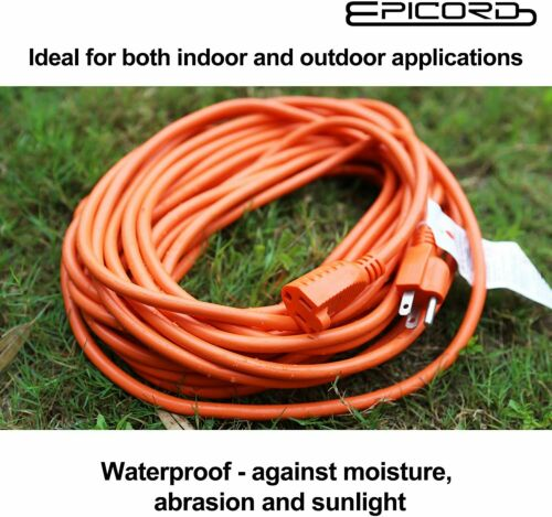 10ft//25ft//50ft//100ft Extension Cord 16//3,14//3 SJTW Outdoor Heavy Duty Power Cord