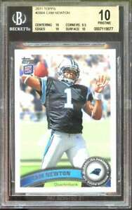 Cam-Newton-Rookie-Card-2011-Topps-200A-Carolina-Panthers-Pristine-BGS-10