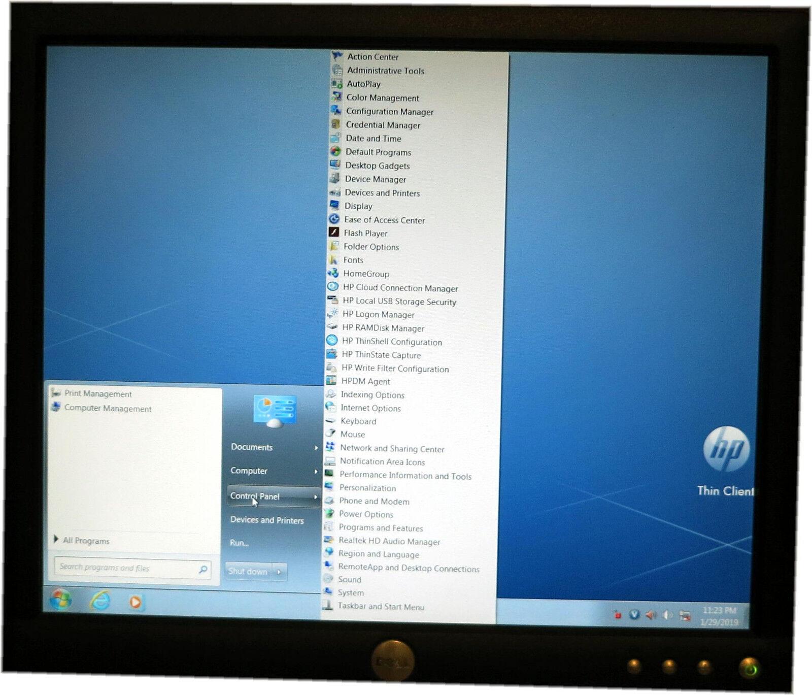 HP t520 Flexible Thin Client w/ AMD GX-212JC@1 2GHz, 4GB RAM 16GF, W7E,  TPC-W016