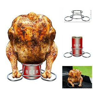 Beer Can Chicken Holder Grill Oven Smoker Grilling Roaster Rack Stainless Steel Ebay