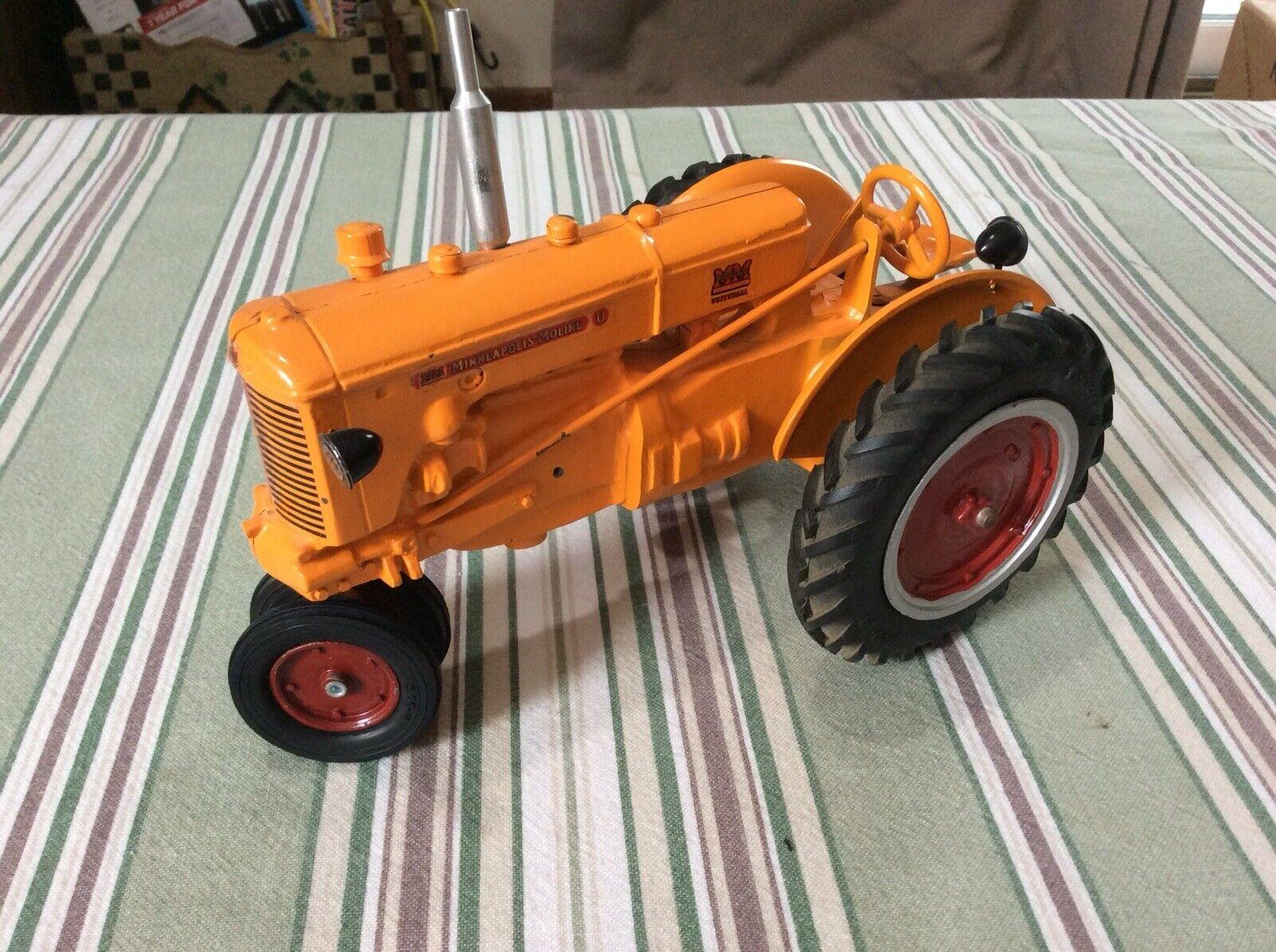 Minneapolis Moline  U  gas toy tractor  1 16   Vintage