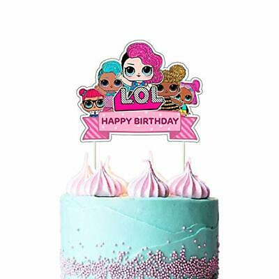 Excellent Lol Cake Topper Happy Birthday Pink Decorations For Bday Theme Personalised Birthday Cards Paralily Jamesorg