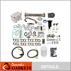 EGR Delete Kit Upgraded Oil Cooler IntakeHead Gasket 18mm Ford 6.0 Diesel Turbo