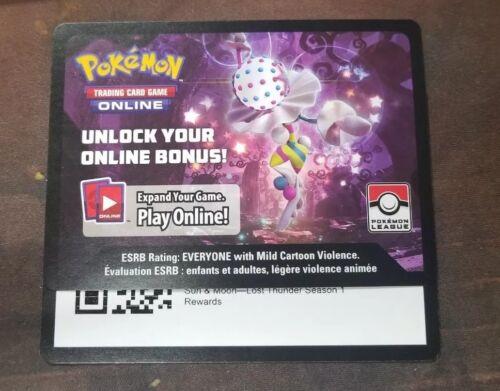 Pokemon:Lost Thunder Season 1 4X Jumpluff Deckbox 1X PTCGO Code Card ON HAND