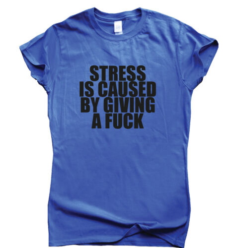 STRESS IS CAUSED BY GIVING A F Funny rude t shirt for men women
