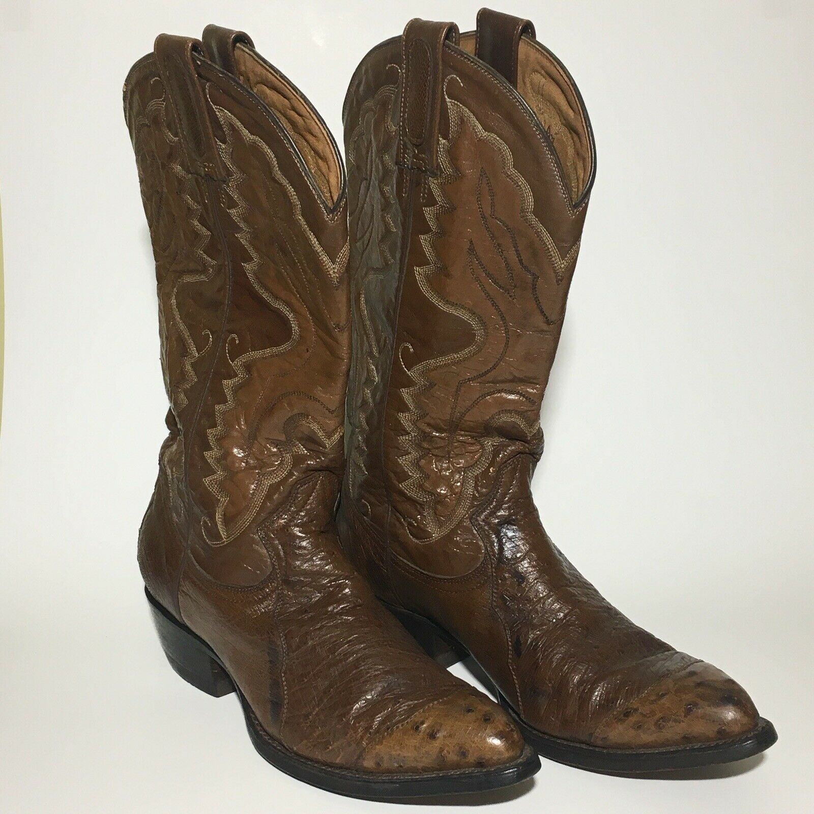 Montana Cowgirl Boots Womens 7.5 Western Leather Ostrich Mexico Dance Festival