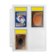 1pk/5pk PSA Graded Card Slab Holders Binder Page Trading Game Fits Pokemon Cards