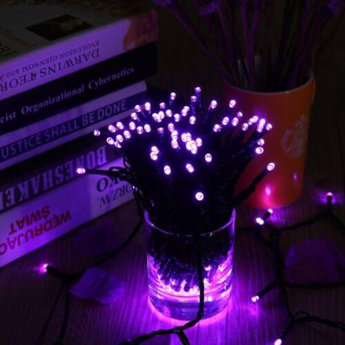100-500 LED Purple Waterproof Solar Christmas New Year Garden Patio String Light
