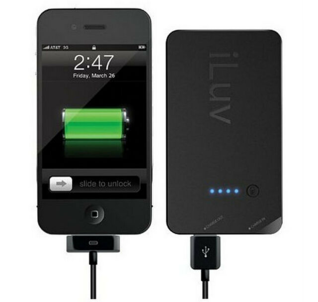 iLuv Portable Back-Up Battery Pack For iPhone iPod Or USB Power Devices - iBA200