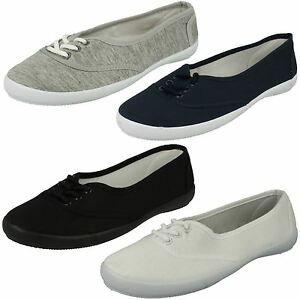 Donna-Spot-On-con-lacci-scarpe-di-tela-f8854