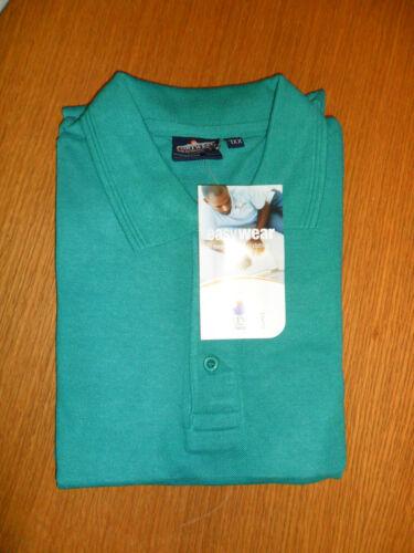2XL Portwest W6210 Polycotton Emerald Green Polo Shirt
