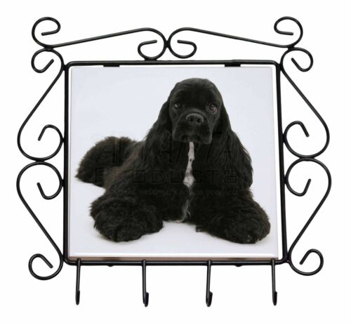 AD-ACS1KH American Cocker Spaniel Dog Wrought Iron Key Holder Hooks Christmas G