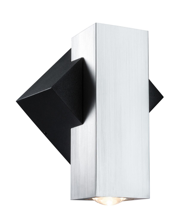 Luz de Parojo Iluminación Externa IP44 LED Mate Aluminio Negro Abajo