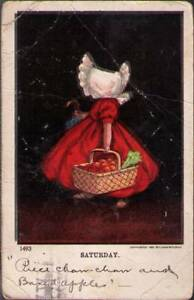 tvq-Postcard-Sunbonnet-Girl-Saturday