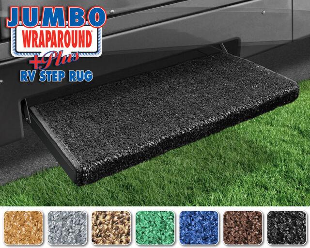 Black 23 Jumbo Wraparound RV Step Rug 2-0050 Prest-O-Fit