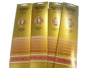 9x-Packs-Gonesh-Classic-Incense-Sticks-Extra-Rich-Cedarwood-20-Stick-Count