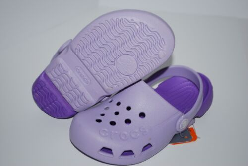 NWT CROCS ELECTRO KIDS CLOGS NAVY BLACK PURPLE PINK GREEN ALL SIZES unisex shoes