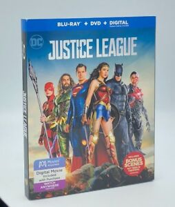 Details about Justice League (Blu-ray+DVD+Digital, 2018