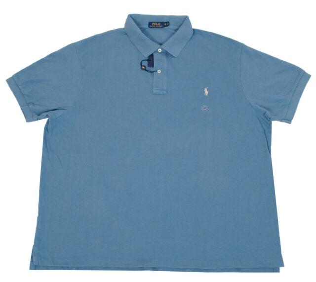 eecd6be6 Polo Ralph Lauren Mesh Shirt 2xlt Weathered Blue W/gray Pony Classic ...