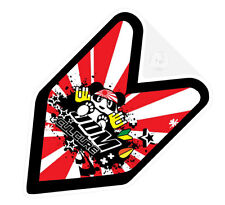 ## JDM CULTURE WAKABA BADGE Car Decal Japan Flag not vinyl sticker ##