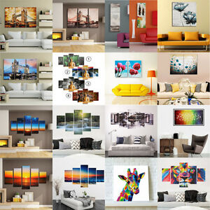 1-3-5-Set-Modern-Abstract-Canvas-Prints-Painting-Art-Oil-Picture-Home-Wall-Decor