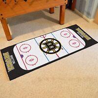 Boston Bruins 30 X 72 Hockey Rink Runner Area Rug Floor Mat