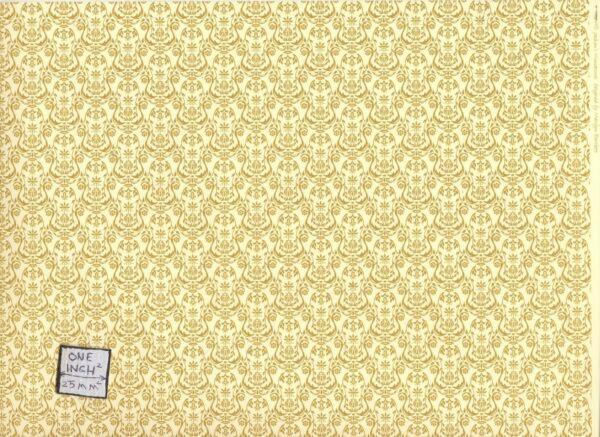 """"""" Um - Dorato """" Miniatura Carta Da Parati Jackson's Casa Delle Bambole Jm05 1/12 Rimozione Dell'Ostruzione"""