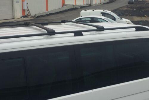 VW T5 TRANSPORTER MULTIVAN CARAVELE on 2003 ANTITHEFT ALUMINIUM CROSS BARS BLACK