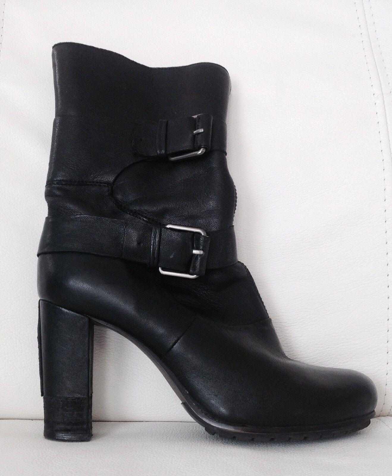 BRUNO PREMI Luxus Stiefeletten Schuhe Schwarz Echt Leder Gr.36