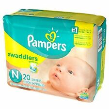 Pampers Swaddlers Size N, Pack of 20 Diapers - Brand New