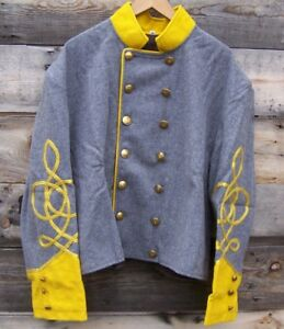 civil war confederate reenactor cavalry shell jacket with 3 braids 44 01