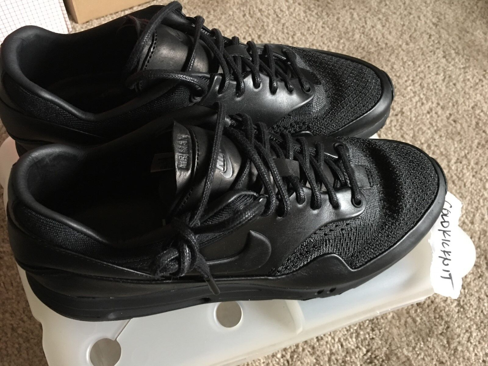 los angeles d4e9a 364c5 DS Nike Air Max 1 1 1 US 10 9.5 Flyknit Royal Arthur Huang NikeLab black