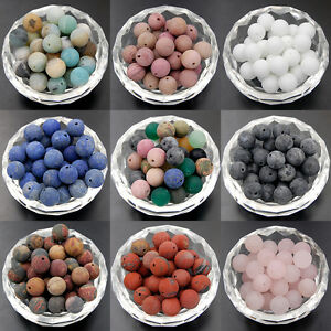 Wholesale-Natural-Matte-Frosted-Gemstone-Round-Loose-Beads-4mm-6mm-8mm-10mm-12mm
