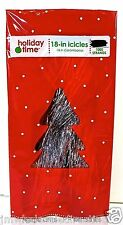 """New ! Holiday Time Christmas Tree Tinsel Icicles,1000 Strands,18""""long, Silver"""